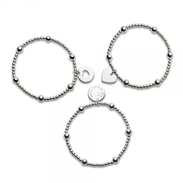Bracelet B3 coeur évidé